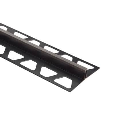 Dilex-BWS Dark Anthracite 1/4 in. x 8 ft. 2-1/2 in. PVC Movement Joint Tile Edging Trim