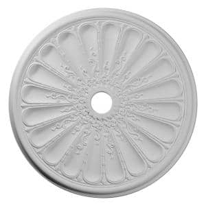 31-1/2'' x 3-5/8'' ID x 1-1/2'' Kirke Urethane Ceiling Medallion (Fits Canopies up to 3-5/8''), Primed White