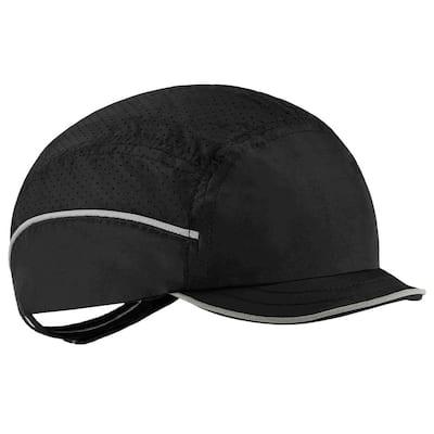 8955 Micro Brim Black Lightweight Bump Cap Hat