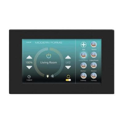 Wi-Fi Touch Panel Ceiling Fan Wall Control with Mounting Bracket in Black
