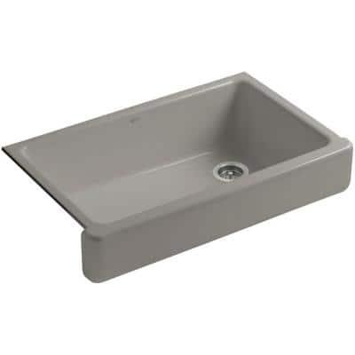 Whitehaven Farmhouse Apron-Front Cast Iron 36 in. Single Basin Kitchen Sink in Cashmere