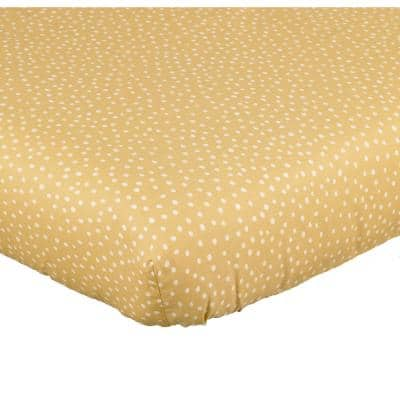 Sumba Yellow Polka Dot Cotton Fitted Crib Sheet