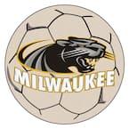 NCAA University of Wisconsin-Milwaukee Cream 2 ft. x 2 ft. Round Area Rug
