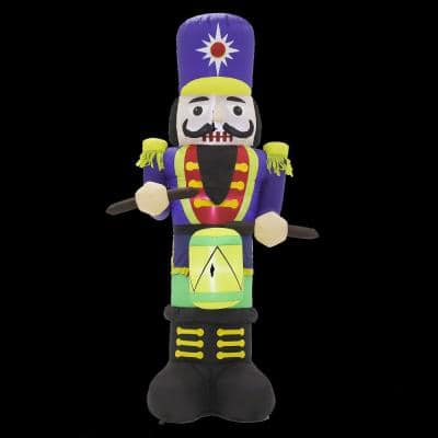 7 ft. LED Lights with Nutcracker Drummer Inflatable