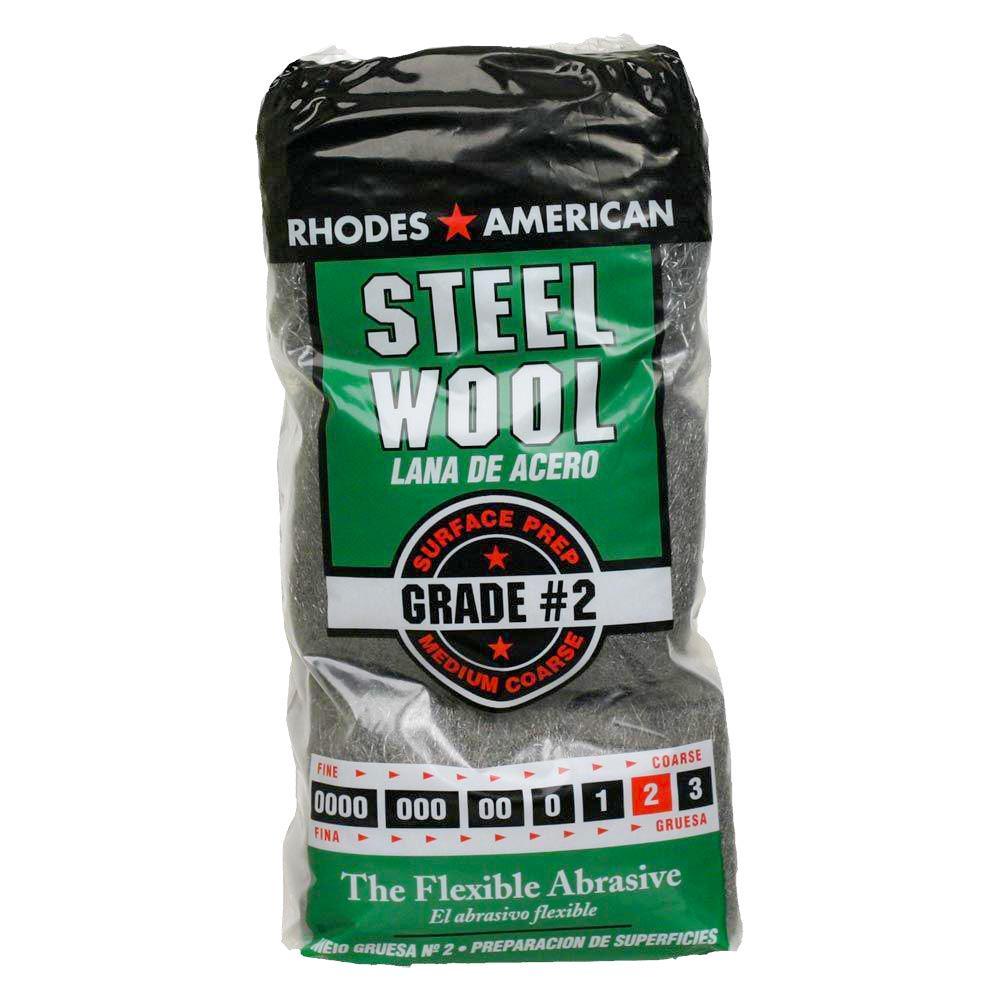 Medium Coarse Grade #2 Steel Wool (12-Pad)