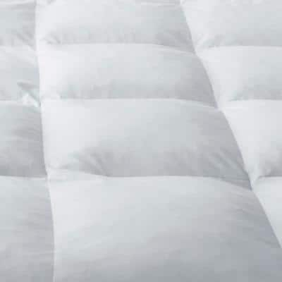 Ultimate Baffled Square Down 4 in. Featherbed Mattress Topper