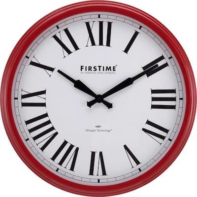 Red Hamilton Whisper Clock