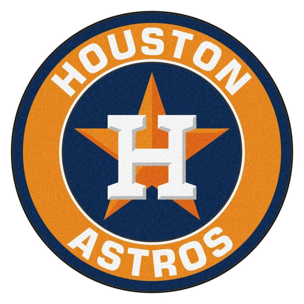 FANMATS MLB Houston Astros Orange 2 ft. x 2 ft. Round Area Rug-18136 - The  Home Depot