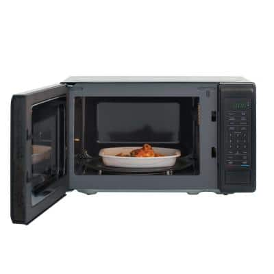 0.7 cu. ft. Countertop Microwave in Black with Gray Cavity