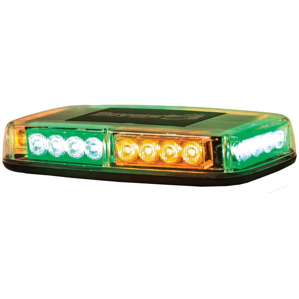 LED Rectangular Amber/Green Mini Lightbar
