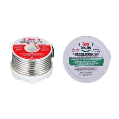 Safe Flo 8 oz. Lead-Free Silver Solder Wire with 1.7 oz. Lead-Free Tinning Flux Paste