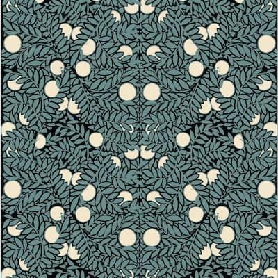 Orange Bush Fabric Peelable Wallpaper (Covers 36 sq. ft.)