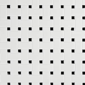 Retro Weave Bianco 11.73 in. x 11.73 in. x 6 mm Matte Porcelain Mosaic Tile (14.4 sq.ft./case)