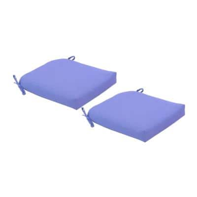 CushionGuard Denim Deluxe Square Outdoor Seat Cushion (2-Pack)