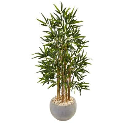 Indoor Bamboo Artificial Tree in Sand Colored Bowl