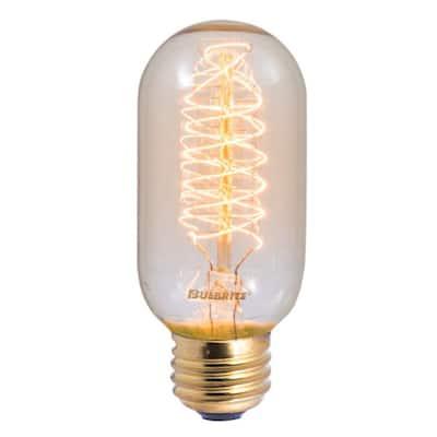 40-Watt T14 Incandescent Light Bulb Medium Base (E26) Antique Nostalgic Thread 2200K (4-Pack)