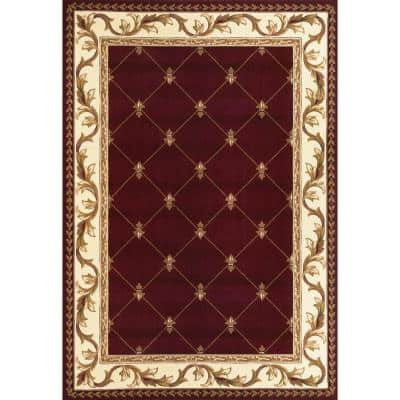 Victorian Red 9 ft. x 13 ft. Area Rug