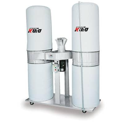 5 HP 3,900 CFM 3-Phase 220-Volt / 440-Volt Vertical Bag Dust Collector (Prewired 220-Volt)