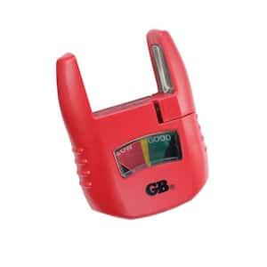 D, C, AAA, AA 9-Volt Battery Tester