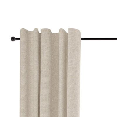 Chelsea 28 in. - 48 in. Adjustable 5/8 in. Single Standard Decorative Window Curtain Rod in Black