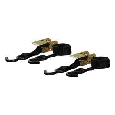 10' Black Cargo Straps with S-Hooks (500 lbs., 2-Pack)