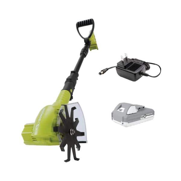 Sun Joe TJW24C 24-Volt Cordless Telescoping Weeder/Cultivator Kit, W/ 2.0-Ah Battery and Charger