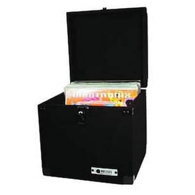 CLP090E Carpeted Pro DJ Case w/ Detachable Lid for 90 LP Vinyl Records