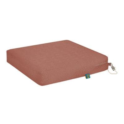 Weekend 21 in. W x 19 in. D x 3 in. Thick Rectangular Outdoor Dining Seat Cushion in Cedarwood