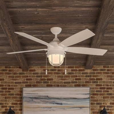 Seaport 52 in. LED Indoor/Outdoor White Ceiling Fan