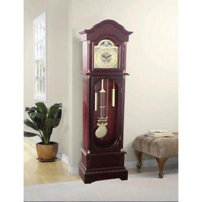Traditional 72 in. Cherry Floor Standing Grandfather Clock