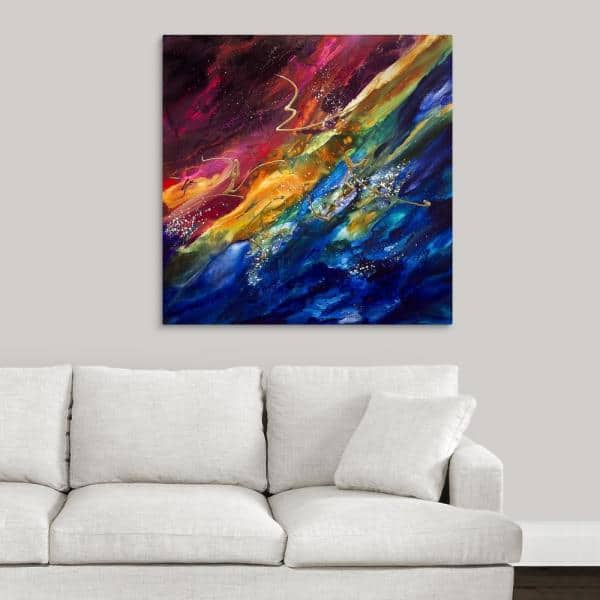 Greatbigcanvas 36 In X 36 In Parallax 4 By Jonas Gerard Canvas Wall Art 2448694 24 36x36 The Home Depot