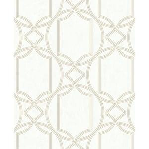 Deco Geo Ivory Wallpaper Sample