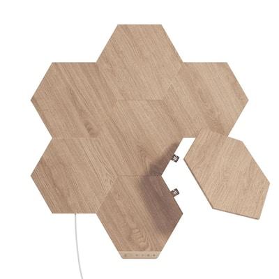 Elements Wood Look Smarter Kit -7 Smart LED Panels