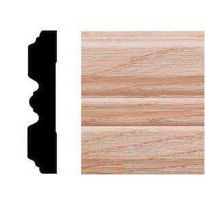 3/4 in. x 3-1/4 in. x 7 ft. Oak Wood Fluted Casing Moulding