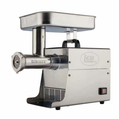 Big Bite Grinder #8 0.5 HP Stainless Steel Electric Meat Grinder