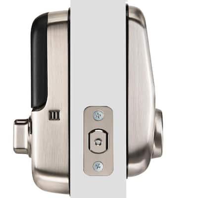 Assure Lock Satin Nickel Single Cylinder Deadbolt with Touchscreen Keypad