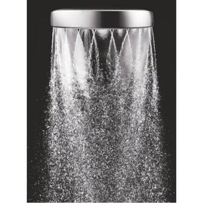 Aio 1-Spray 6 in. Single Wall Mount Handheld Shower Head in Chrome