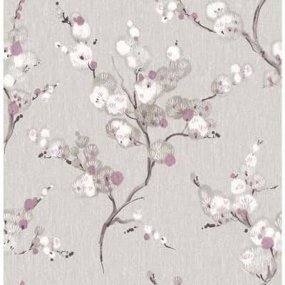 Bliss Purple Blossom Purple Wallpaper Sample