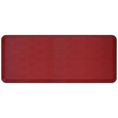 NewLife Designer Pebble Pomegranate 20 in. x 48 in. Anti-Fatigue Comfort Kitchen Mat
