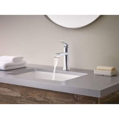 Genta Single Hole Single-Handle Bathroom Faucet in Chrome (2-Pack)