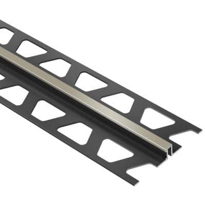 Dilex-BWS Grey 7/16 in. x 8 ft. 2-1/2 in. PVC Movement Joint Tile Edging Trim