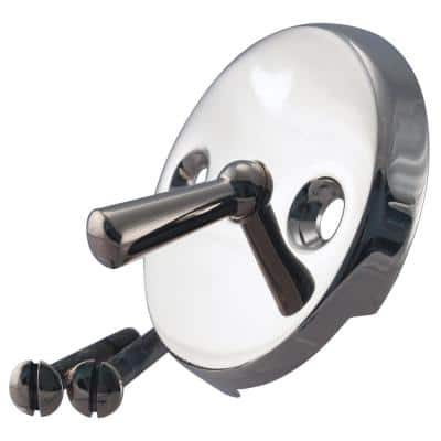 Universal Trip Lever Overflow Faceplate in Polished Nickel