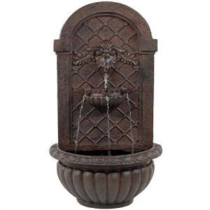 Venetian Resin Iron Solar-On-Demand Outdoor Wall Fountain