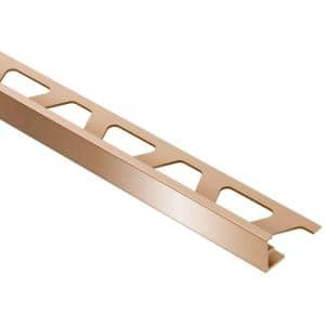 Jolly Polished Copper Anodized Aluminum 1/4 in. x 8 ft. 2-1/2 in. Metal Tile Edging Trim