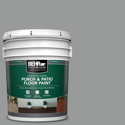 5 gal. #MS-82 Cobblestone Grey Low-Lustre Enamel Interior/Exterior Porch and Patio Floor Paint