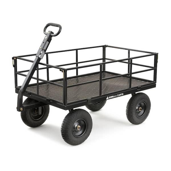 1 200 Lb Heavy Duty Steel Utility Cart, Steel Utility Flat Garden Wagon