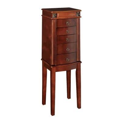 Cherry Jewelry Armoires Bedroom Furniture The Home Depot
