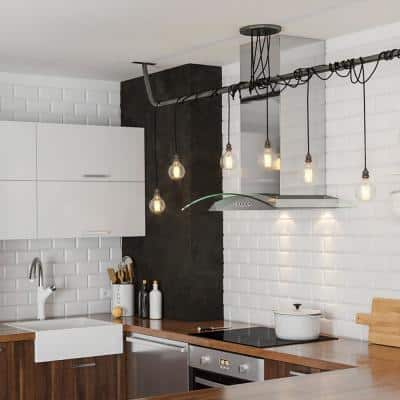 30 in. Wall Mount Range Hood in Stainless Steel and Glass with Aluminum Mesh Filters, LED lights, Push Button Control