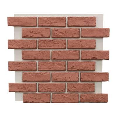 Classic Brick 22-1/2 in. x 22-1/4 in. Brick Veneer Siding Full Panel