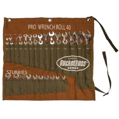 Pro 14 in. 40-Pocket Wrench Roll